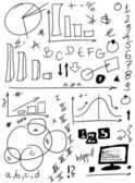 Doodle charts — Stock Photo