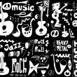 Doodles funny music — Stock Photo