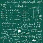 Doodle maths seamless pattern — Stock Photo