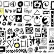 Doodle design elements background — Stockfoto
