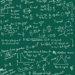 Stock Photo: Doodle physics formulas background, texture and pattern