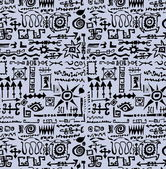 Doodle vintage set seamless texture and pattern — Stock Photo