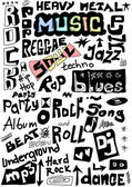 Music words seamless background — Stock Photo