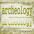 Concept of archeology on old paper background with ornaments — Stock Photo #29657421