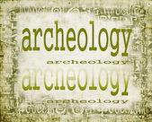 Koncept archeologie na staré papírové pozadí s ornamenty — Stock fotografie
