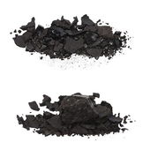 Set pile black coal isolated on white background — Stock Photo