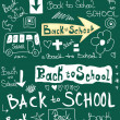 Back to school, doodle word school background — Stock Photo #29844809