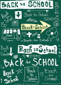Back to school, doodle word school background — Stock Photo