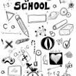 Back to school, doodle school symbols isolated on white — Stock Photo #30054109