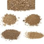Set pile dry dirt isolated on white background — Stock Photo #30350783
