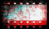 Blank old grunge film strip frame background — Stock Photo