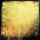 Blank old grunge film strip frame background — Stock Photo