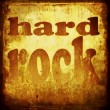 Hard rock word music background — Stock Photo