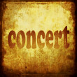 Concert word music background — Stock fotografie