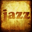 jazz word music background — Stock Photo