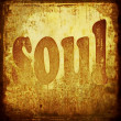 Stock Photo: Soul word music background