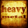 Heavy metal word music background — Stock Photo