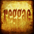 Reggae word music background — Stock Photo