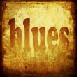 Blues word music background — Stock Photo