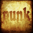 Punk word music background — Stock Photo