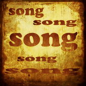 Song word music background — Stock Photo