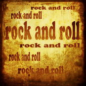 Rock and roll word music background — Stock Photo
