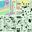 Stock Photo: Doodles funny music background
