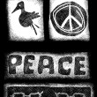Doodle symbol peace icons — Stock Photo