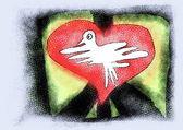 Pace simbolo doodle — Foto Stock