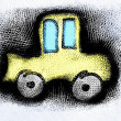 Doodle car hand drawn sketch — Stock Photo