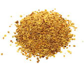 Pile bee pollen on white background — Stock Photo