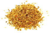 Pile fresh bee pollen isolated on white background, with clipping path — Stock Photo