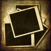 Old grunge blank photo frame isolated on white background — Stock Photo