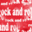 Concept Rock and roll word backgrounds and texture — Foto Stock