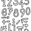 Hand drawn numbers, doodles — Stock Photo