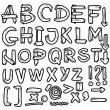 Hand drawn grungy font, doodles — Stock Photo
