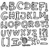 рука нарисованные шероховатый шрифт, каракули — Стоковое фото