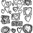 Doodle  Hearts, Valentine day — Stock Photo