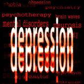 Begreppet depression — Stockfoto