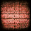 Red brick wall seamless background — Stockfoto
