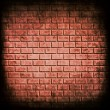 Red brick wall seamless background — ストック写真