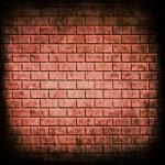 la pared de ladrillo rojo fondo transparente — Foto de Stock