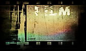 Grunge film strip background — Stock Photo