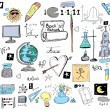 Back to school, School Doodle background and texture — Stock Photo #34683999