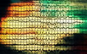 Concept graph brain wave EEG — Stock Photo