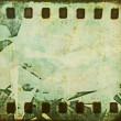 Grunge film strip background — Stock fotografie