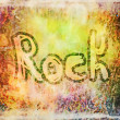 Rock music word backgrounds and texture — Stock Photo