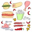 Doodle fast food — Stock Photo