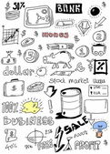 Doodle business background — Stock Photo