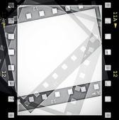 Blank film strip frame isolated on white — Stock Photo